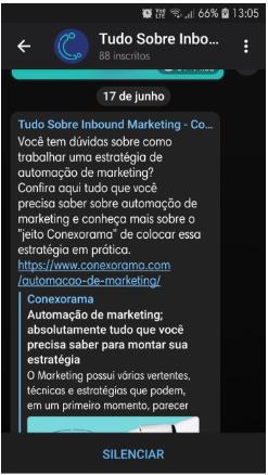 """A Conexorama possui um grupo sobre marketing digital no Telegram, o """"Tudo sobre Inbound Marketing!"""