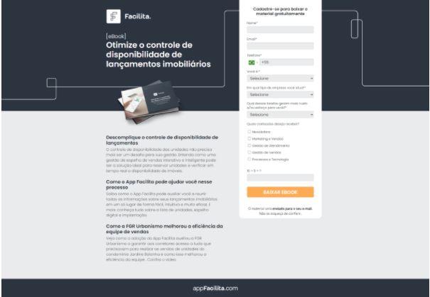 Print da LP de Conversão de Material Rico desenvolvida pela Conexorama para um cliente