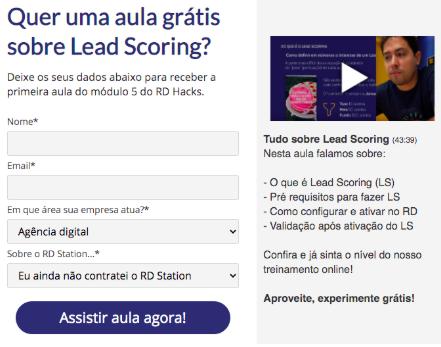 Trial Marketing para curso de marketing digital