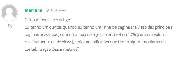 Comentário recebido no site inbound da Conexorama