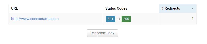 Print da ferramenta httpstatus.io mostrando que o site está retornando um requerimento corretamente.