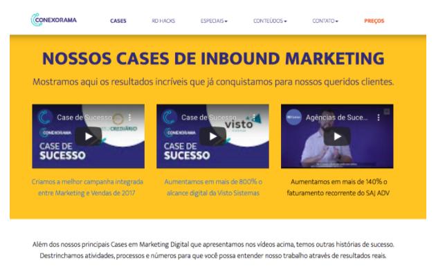 Nossos cases inbound Marketing