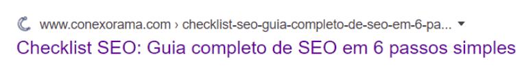 Exemplo de como usar a palavra-chave em um meta-title
