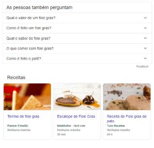 Resposta Google com perguntas e vídeos