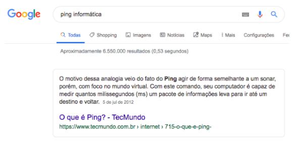 O que é Ping na informática?