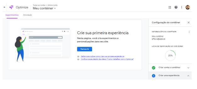Teste A/B Google Optimize