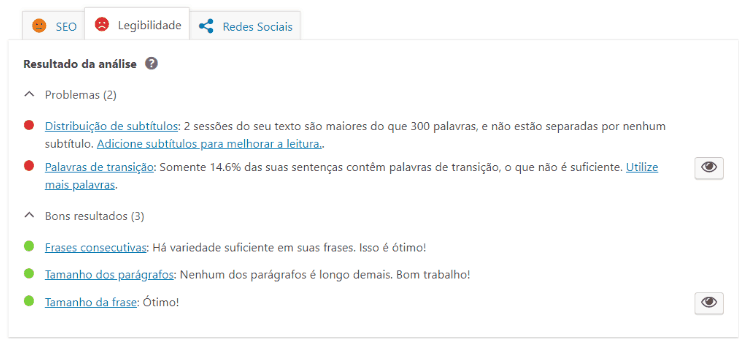 print da tela do plugin yoast